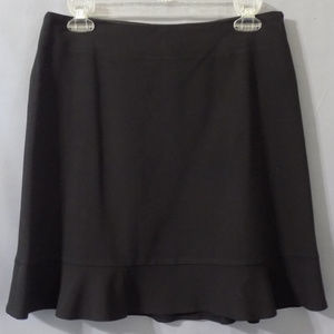 stretch black skirt with ruffle